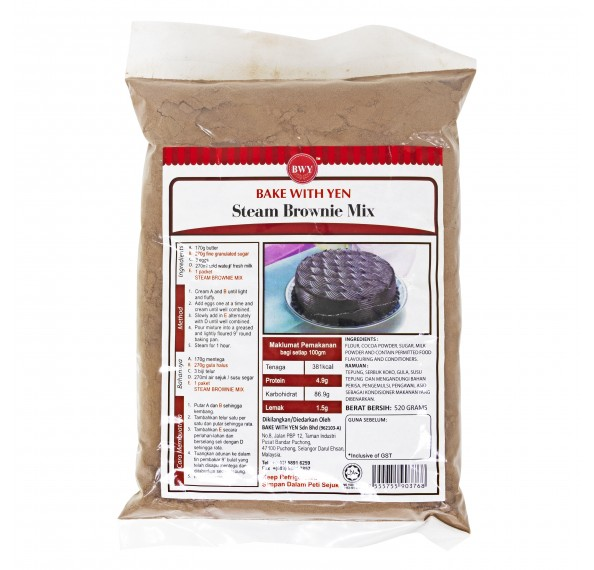 BWY Steamed Brownie Mix 520g
