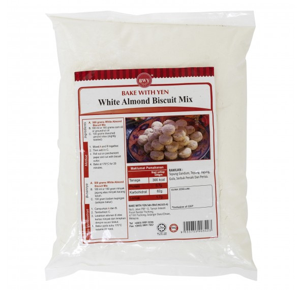 BWY White Almond Biscuit Mix 500g