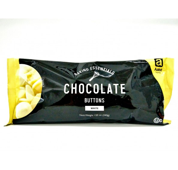 Aalst White Cooking Chocolate Buttons 340G