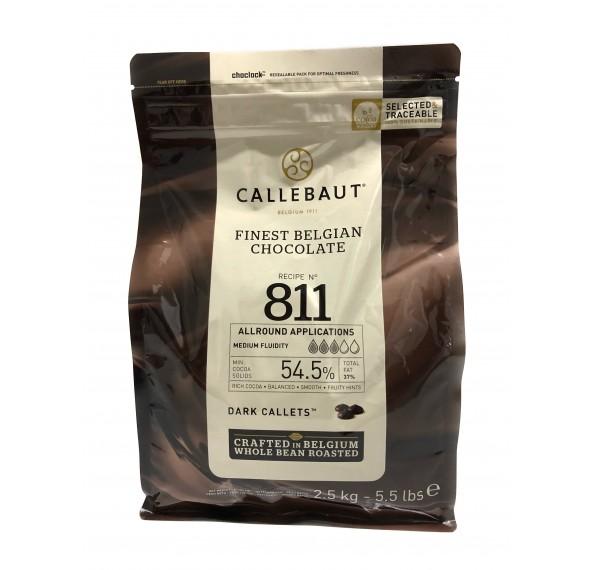Callebaut 811 Dark Couverture 54.5% Callets 2.5kg