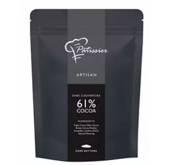Aalst Dark Chocolate Buttons 61% 500g