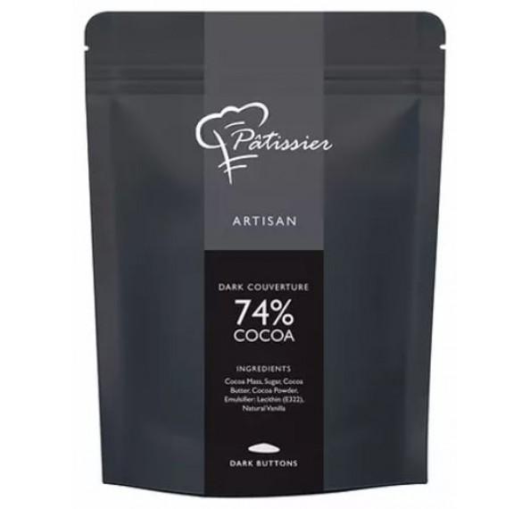 Aalst Dark Chocolate Buttons 74% 500g