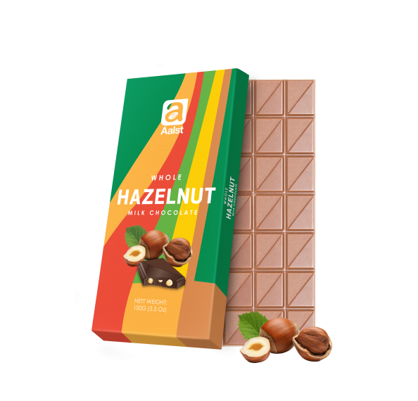Aalst Whole Hazelnut Milk Chocolate Bar 100g