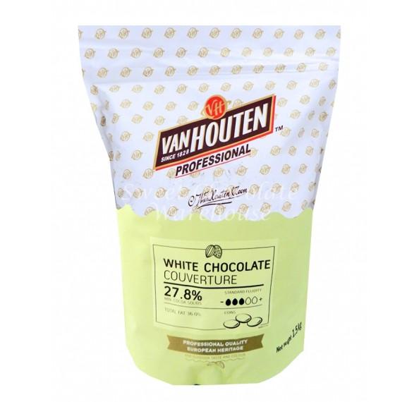 Van Houten White Couverture Choc Callets 27.8% 1.5kg