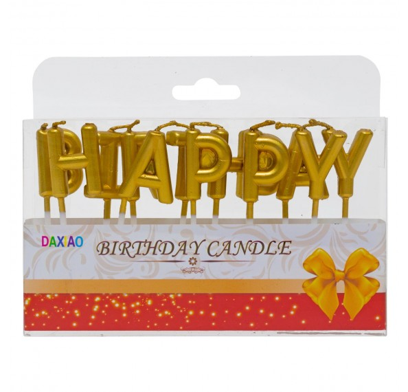 Candles Single Colour Birthday (Gold)