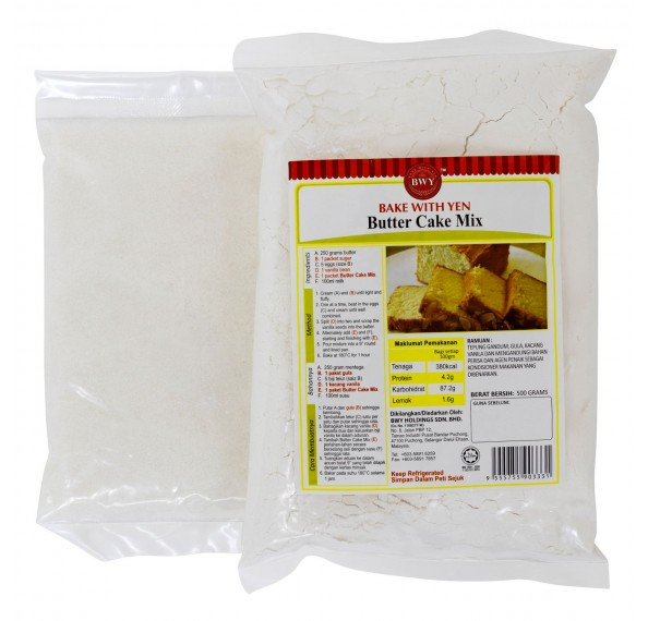 BWY Butter Cake Mix 500G