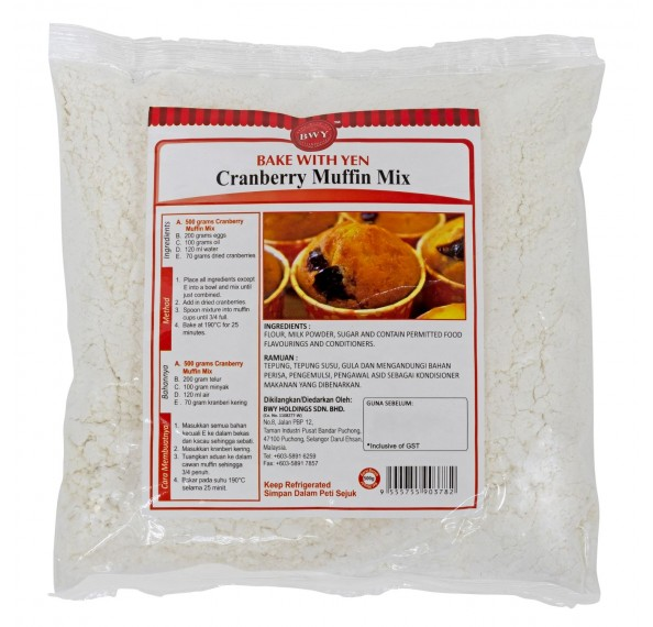 BWY Cranberry Muffin 500G